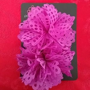 Paparazzi 2 purple butterfly hairbows